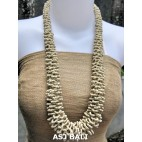 multiple seeds beads white grass system fashion necklaces
