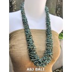 multiple seeds wrapt beads grass system fashion necklaces
