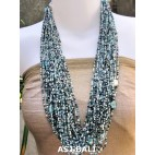 multiple strand fashion necklaces beads blue mix color style