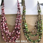 two color bali fashion beads seashells necklaces casandra