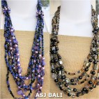 two color fashion beads with seashells necklaces casandra style