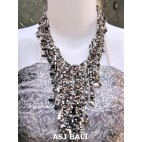 women fashion beads necklaces wired stone mix