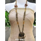 women necklaces beads single pendant flower stone shells gold