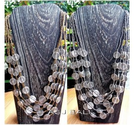 gold grey beads color necklaces charming coins fashion design