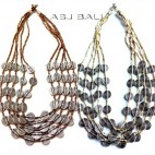 golden white beads color necklaces charming coins fashion
