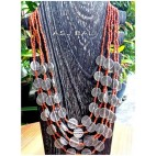 multi charms accessories beads necklaces orange color