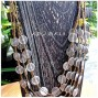 multiple charm accessories beads golden necklaces silver coins