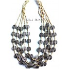 multiple charm accessories beads necklaces silver coins
