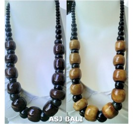 budha bead cow bone material necklaces single strand