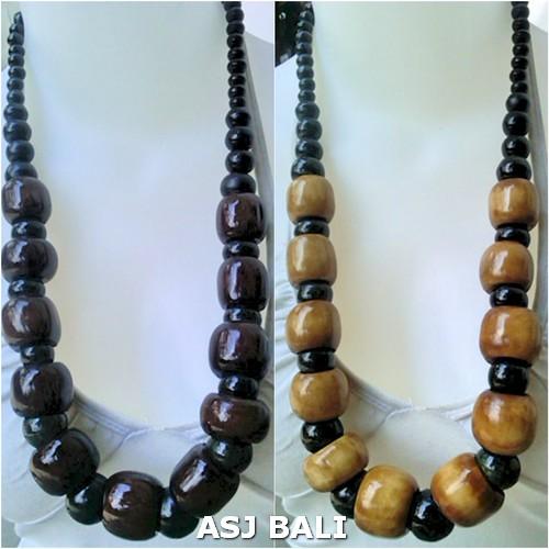 budha bead cow bone material necklaces single strand