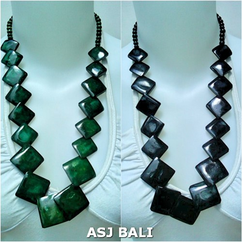 cow bone square bead necklaces bali design unique