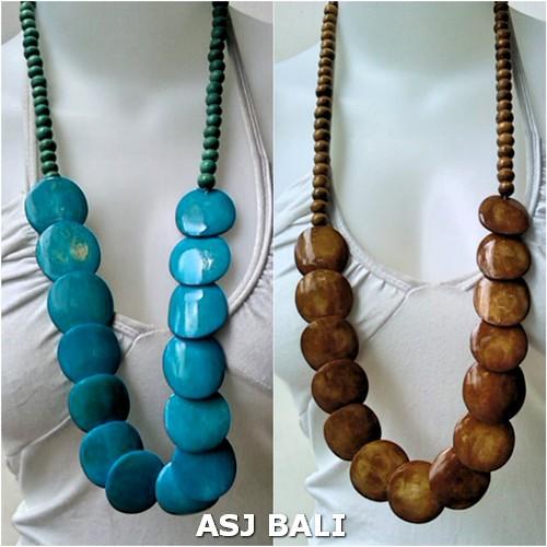 ethnic cow bone coins bead necklaces handmade bali