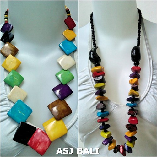 ethnic modern design necklaces cow bone material