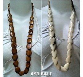 long seeds cow bone necklaces for women ethnic design