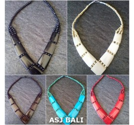 tribal necklaces cow bone bali handmade