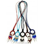 American native dream catcher necklace with nylon string pendant
