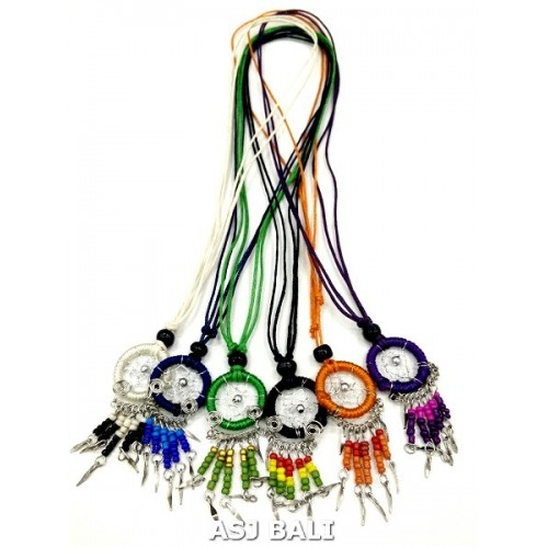 bali dream catcher necklaces beads with nylon strings