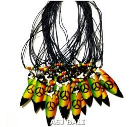 bali surfing board jewelry necklace pendant rasta