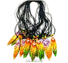 hawaii rasta surfboard handmade necklaces pendant