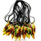 necklaces pendant surfing board rasta color