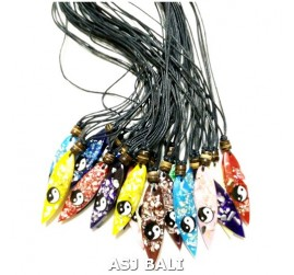 resin surf pendant necklaces for men mix color
