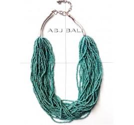 bali full beads fashion necklaces multiple strand turquoise