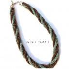 blue gold beads necklaces design hemp rolling design