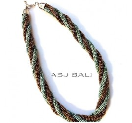 blue gold beads necklaces design hemp rolling design
