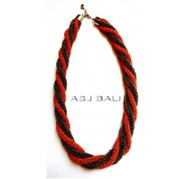 dark orange gold necklaces beads rolling system