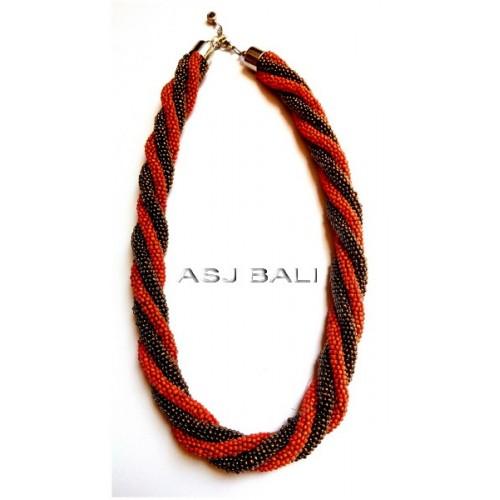 dark orange gold necklaces beads rolling system