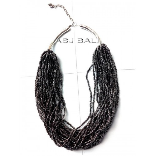 full beads fashion necklaces multiple strand black color