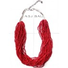 full beads fashion necklaces multiple strand red color