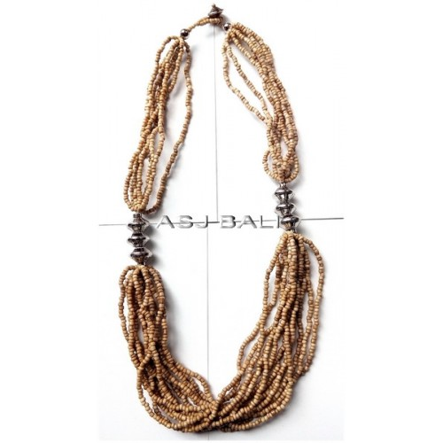 handmade necklaces with beads beige color multi seeds