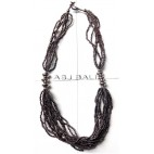 handmade necklaces with beads grey color multi seeds