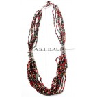 mix color beads multi strand necklaces handmade