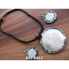 seashells abalone beads necklaces pendant sets earring