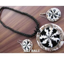 seashells resin beads necklaces pendant sets earring crash