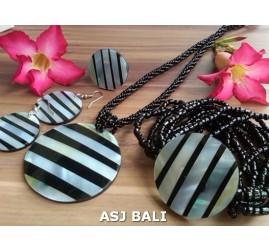 bali seashells resin necklaces sets bracelets rings earrings