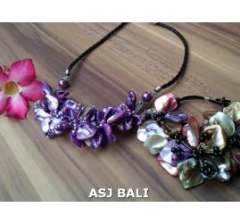 beads purple seashells necklaces sets rings bracelets bali design