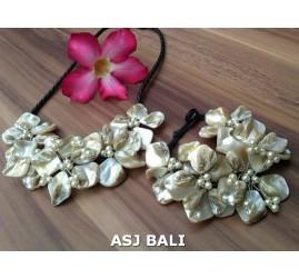 beads seashells organic necklaces sets rings bracelets bali design
