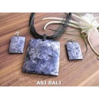 seashells necklaces strings leather sets earrings purple square
