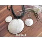 seashells necklaces strings leather sets earrings white