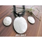 seashells necklaces strings leather sets earrings white oval