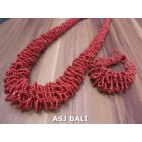 full beads necklaces bracelet sets circle red color