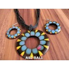 natural wood rings hand painted jewelry sets handmade made in bali