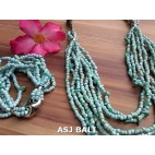 necklaces bracelets beading sets stretching charm turquoise