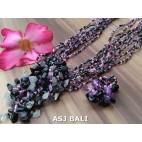 necklaces rings set beads stone pendant single black pink