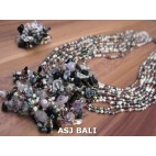 necklaces rings set beads stone pendant single glass