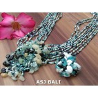 necklaces rings set beads stone pendant single turquoise