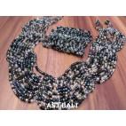 sets necklaces bracelet multiple seeds glass bead stretch butterfly